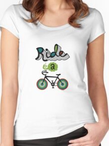 Ride a bike 3 Women's Fitted Scoop T-Shirt