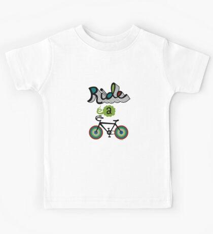 Ride a bike 3 Kids Tee