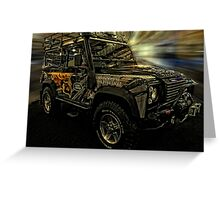 Land Rover Defender of the Philippine Eagle Greeting Card