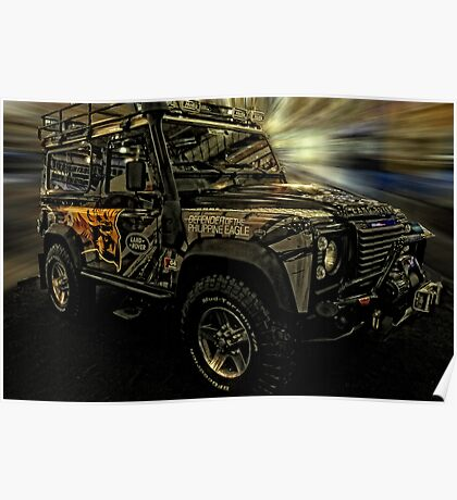 Land Rover Defender of the Philippine Eagle Poster