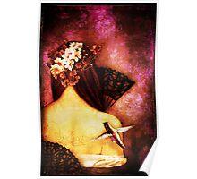 Girl With Hummingbird Poster