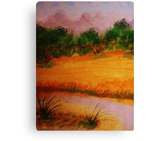 Country side, watercolor Canvas Print
