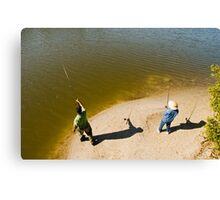 Fishing pair Canvas Print