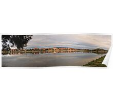 12 Frame Panorama of Lake Tuggeranong in Canberra/ACT/Australia (2) Poster