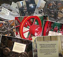 Old Machines from the Falls Grist Mill Museum by Charldia