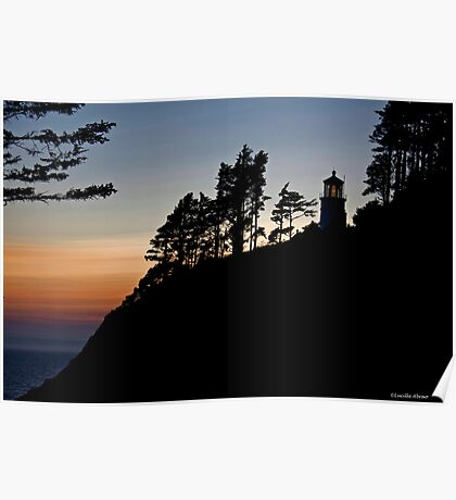 Heceta Head Lighthouse Sunset Poster