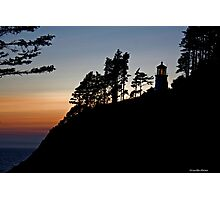 Heceta Head Lighthouse Sunset Photographic Print