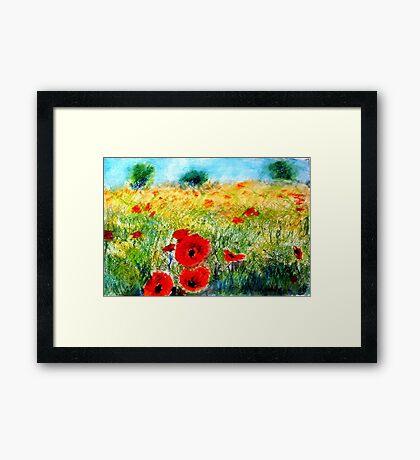Adam Pearson's 'Poppy Field' Framed Print