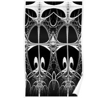 Freaky Fractal Creatures Poster
