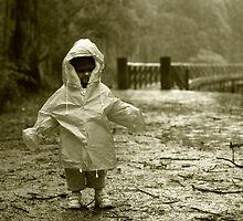 Pouring Down on the Trestle Bridge. by Dirk Michael Dudat