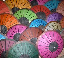 Umbrellas Laos by Faye Masters