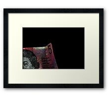 Five bucks Framed Print