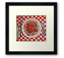 Albondigaphobia (Fear of Meatballs) Framed Print