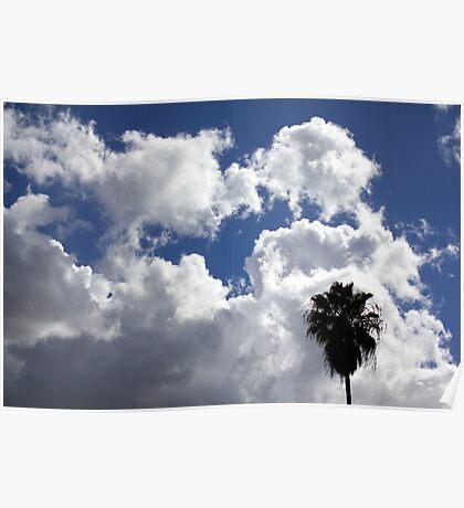 Cloudy California skies Poster