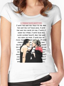 Ten Things I Hate About You Poem Women's Fitted Scoop T-Shirt
