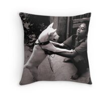 Best Friends - Denpasar, Bali 2010 Throw Pillow