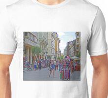 Street market, Vaci Ulca, Budapest, Hungary Unisex T-Shirt