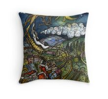 """Whoah, these new reindeer are FAST!"" Throw Pillow"