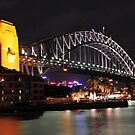 Sydney's Coat Hanger at Night. -The Sydney Harbour Bridge by Alwyn Simple