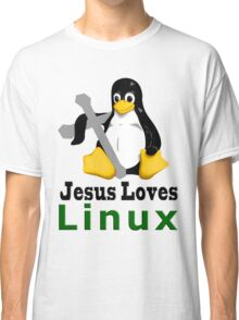 Jesus Loves Linux Classic T-Shirt
