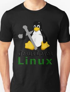 Jesus Loves Linux Unisex T-Shirt