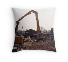 Demolition of Knowsley Road St Helens  Throw Pillow
