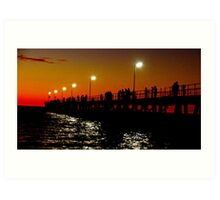 Port Noarlunga Jetty @ night Art Print