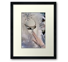 Venice - Carnival Mask 2011....02 - Off White Framed Print