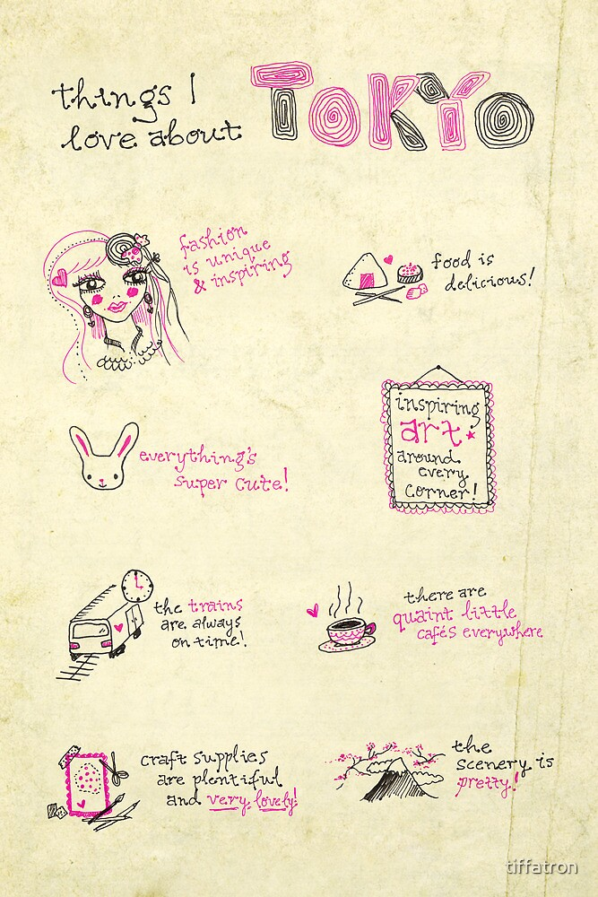 Things I Love About Tokyo by Tiffany Atkin