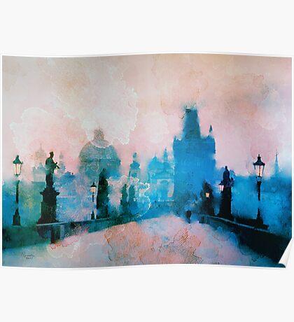 Sunrise over Prague  Poster