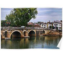 Old Bridge in Tomar in Portugal Poster