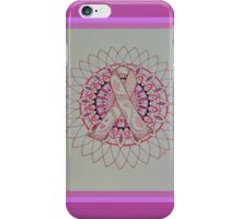 Breast Cancer Ribbon Mandala iPhone Case/Skin