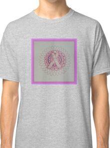 Breast Cancer Ribbon Mandala Classic T-Shirt