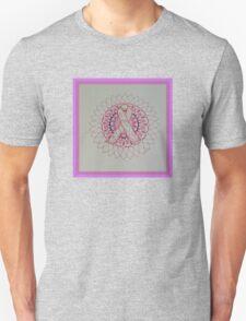 Breast Cancer Ribbon Mandala Unisex T-Shirt
