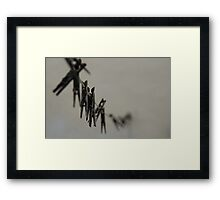 On The Line Framed Print