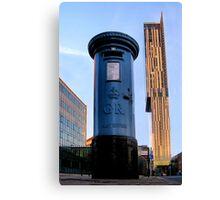 blue post box.. Canvas Print