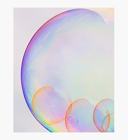 Bubbles Abstract Photographic Print