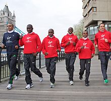 Photocall for the London marathon 2011 by Keith Larby