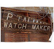 the old watchmaker Valletta,Malta Poster