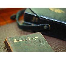 Prayer Book Photographic Print
