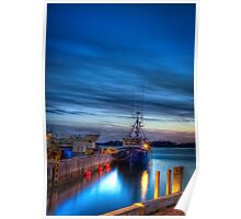 Sunset Over Woods Hole Poster
