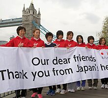 Japanese Elite runners for the london Marathon 2011 by Keith Larby