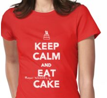 Keep Calm and Eat [Royal Wedding] Cake Womens Fitted T-Shirt