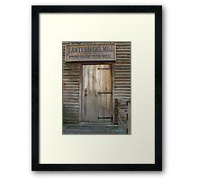 Welcome to the Mill Framed Print