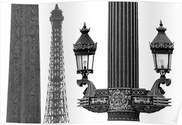 Paris - Three beauties. by Jean-Luc Rollier