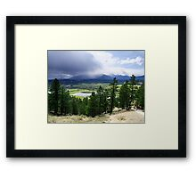Kootenay Valley and Wetlands Framed Print