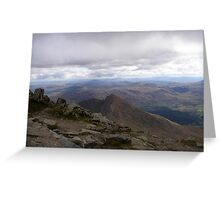 View from Snowdon Greeting Card