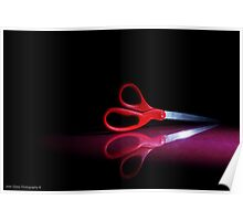 Cutting Red Poster
