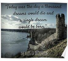 Quote from the Kiss of Deception Poster