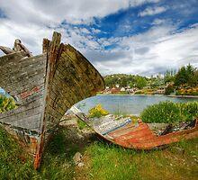 Barcos Abandonados, Lago Nahuel Huapi by strangelight
